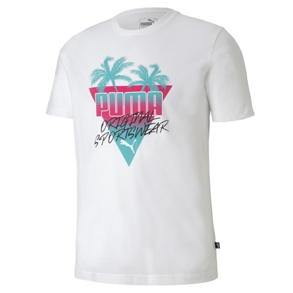 PUMA SUMMER PALMS GRAPHIC TEE